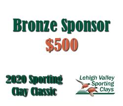 Bronze Sponsor - 2020 Lehigh Valley Sporting Clay Classic