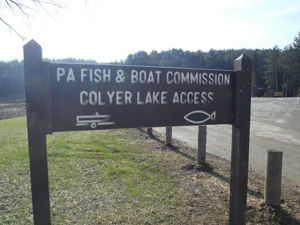 Colyer Lake Sign photo